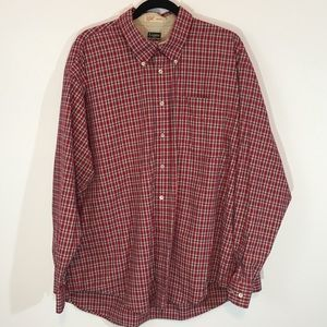 Haggar ForeverNew   Button down shirt Red